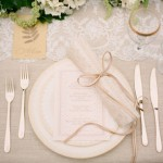 Wedding Plate Setup
